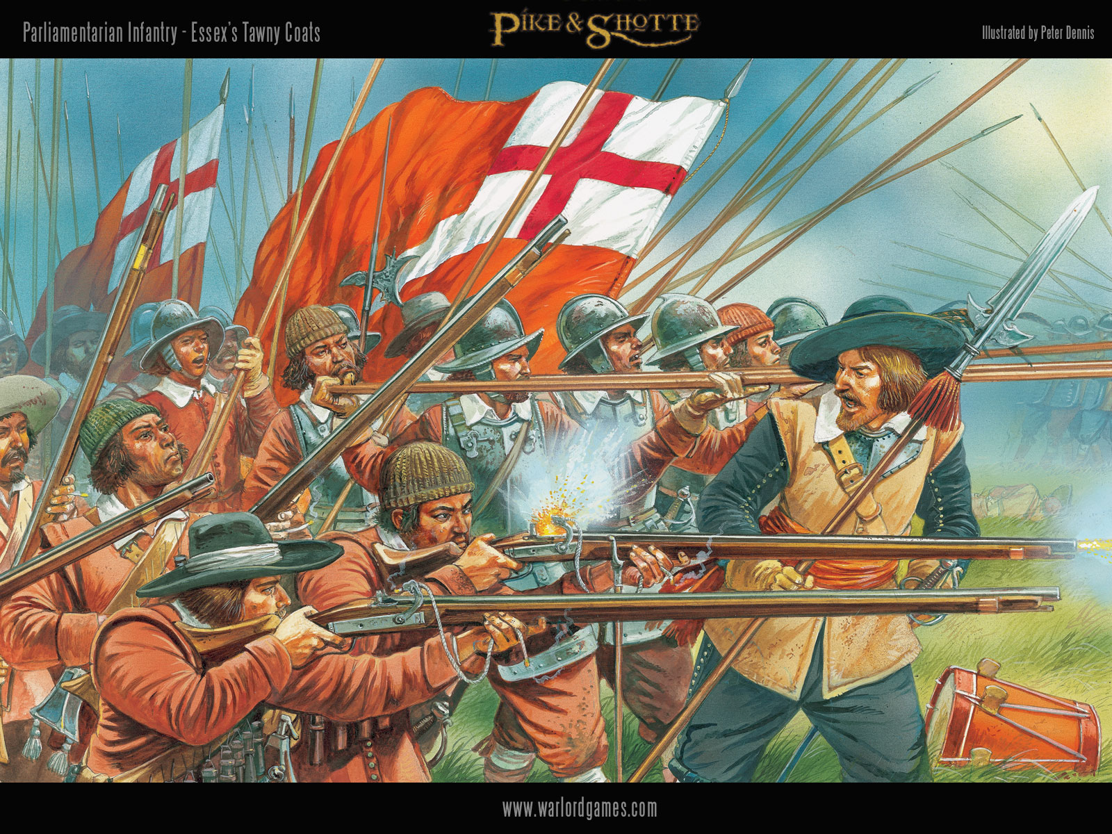 Illustrations P&S ECW-Parliament-Infantry-wallpaper