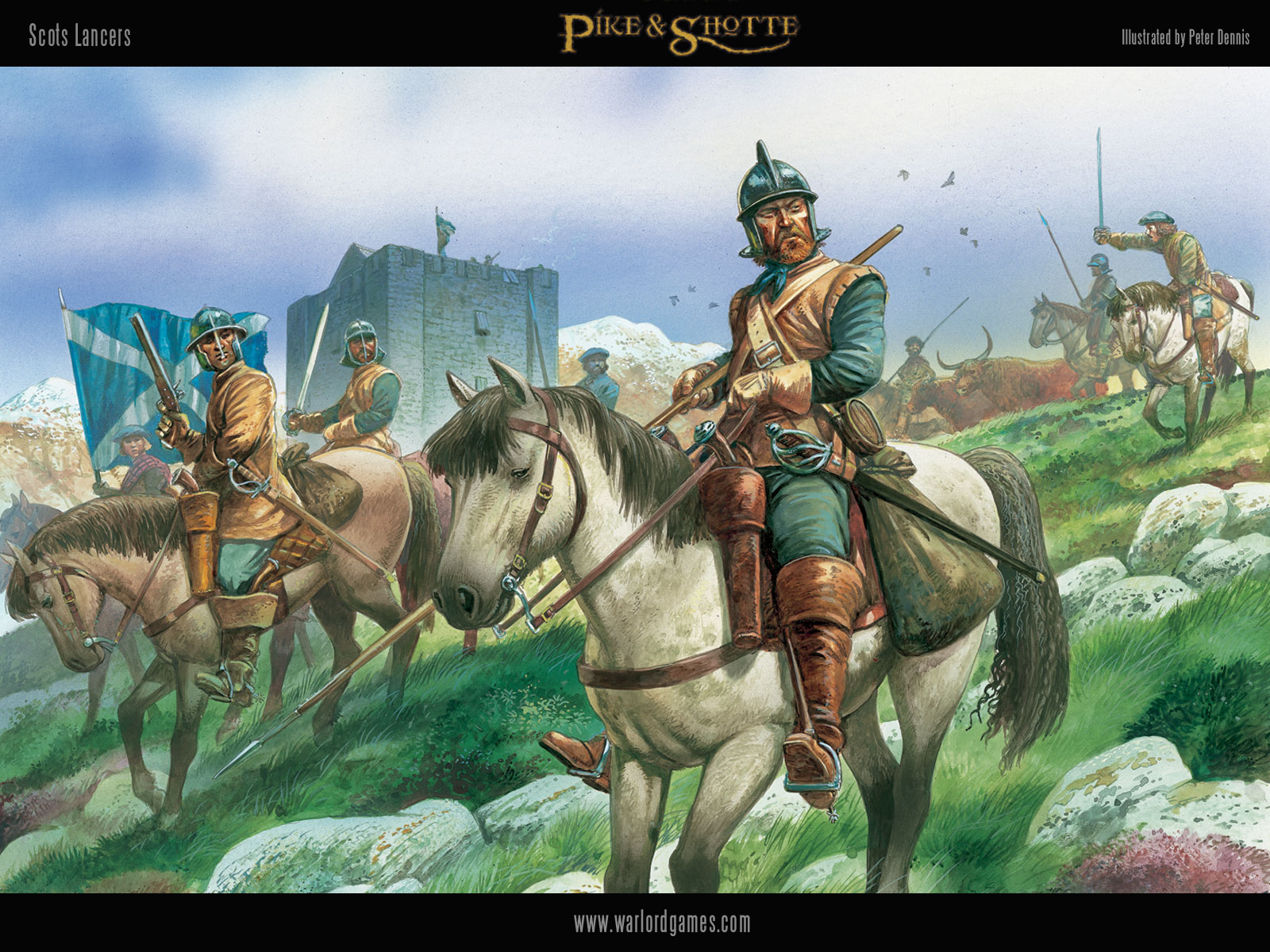 Illustrations P&S Scots-Lancers-wallpaper