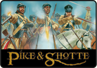 Pike & Shotte, wargaming 1500 - 1700. Click to visit the Pike & Shotte section on our webstore.