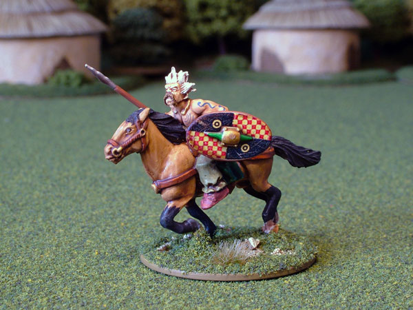Ancient British Cavalry with Javelin and Shield
