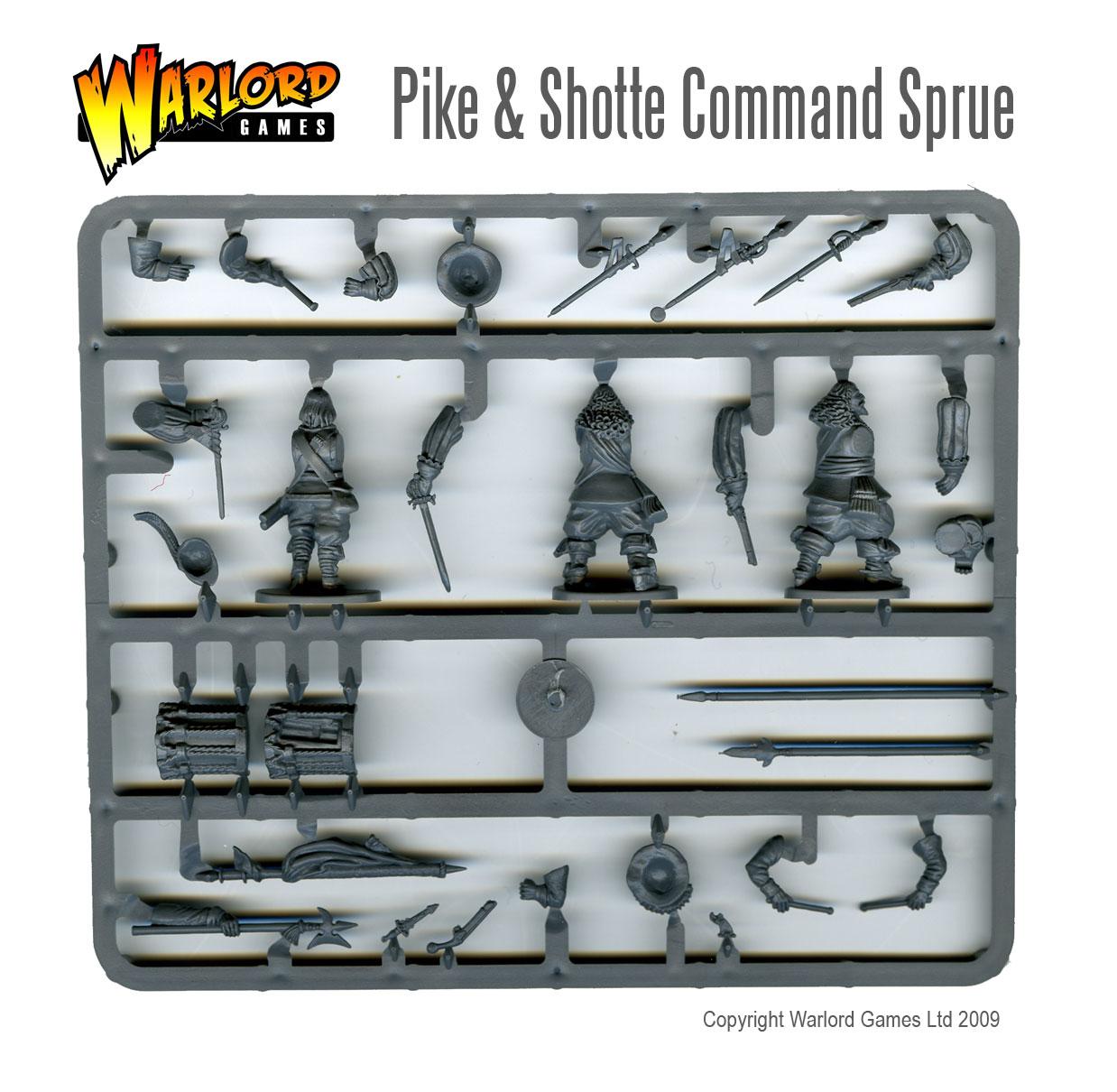 Pike & Shotte Command Sprue Rear