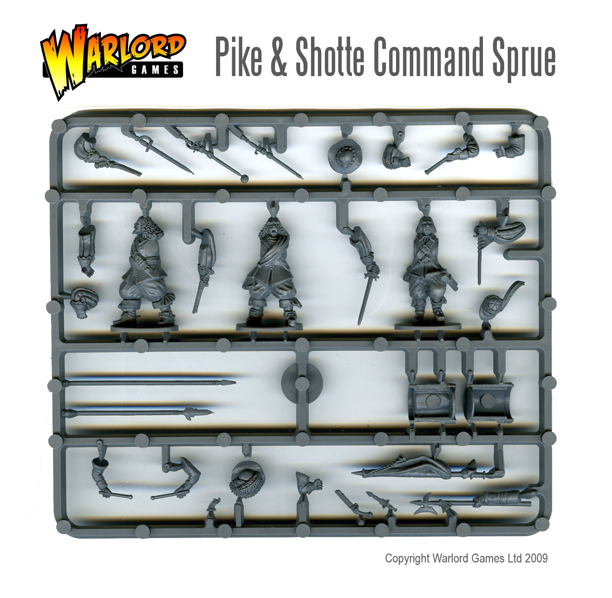 Pike & Shotte Infantry Command Sprue Front