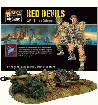 Bolt Action Miniatures - The Red Devils boxed set, below German Soldiers tending to a howitzer.
