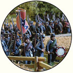 Confederate Soldiers on the march.