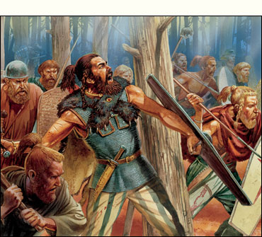 Germanic Tribesmen charging through the forest!