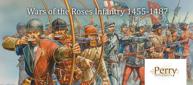 Plastic Perry War of the Roses Infantry Boxed Set Art
