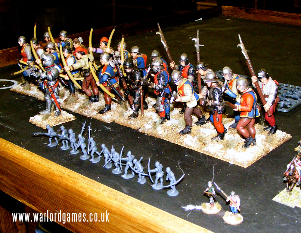 Plastic Perry War of the Roses Infantry 3-Ups 2