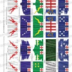 New! King's Colours Flag Sheets