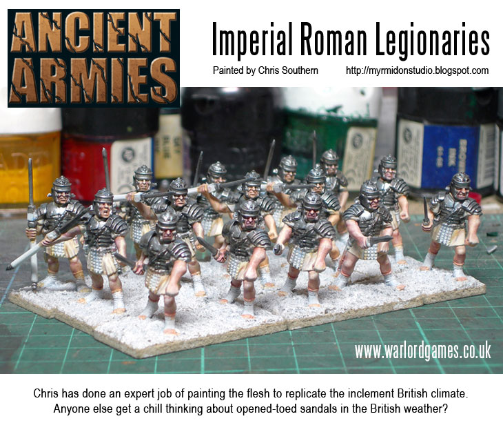 Painting Imperial Roman Legionaries - Flesh