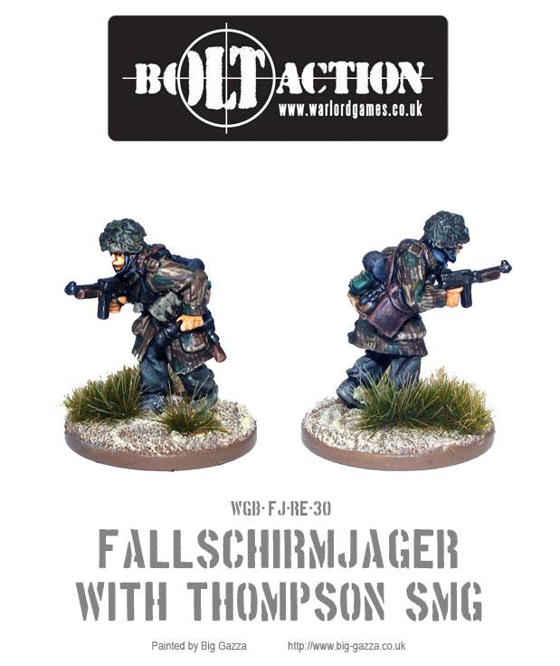Fallschirmjäger with Thompson SMG