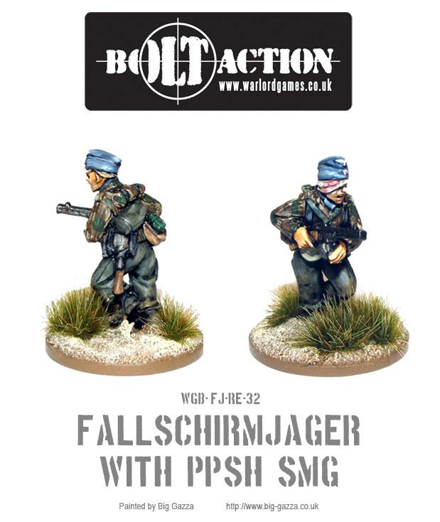 Fallschirmjäger with PPSH SMG
