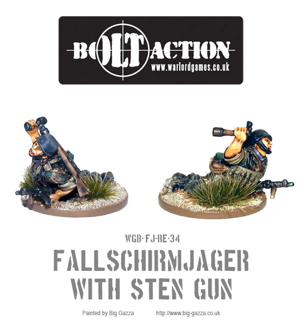 Fallschirmjäger with Sten Gun