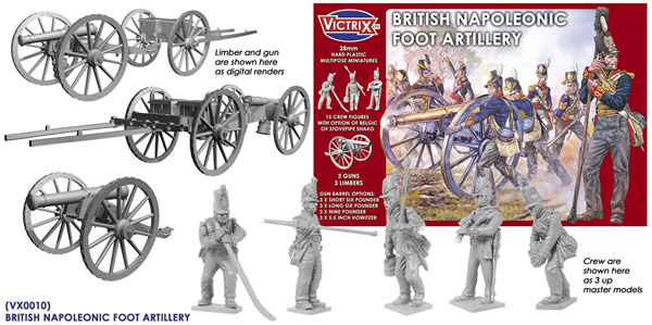 Victrix British Napoleonic Foot Artillery Contents