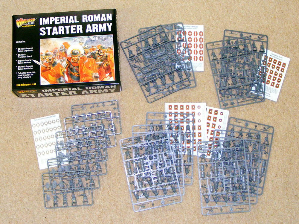 Imperial Roman Starter Army Boxed Set Contents