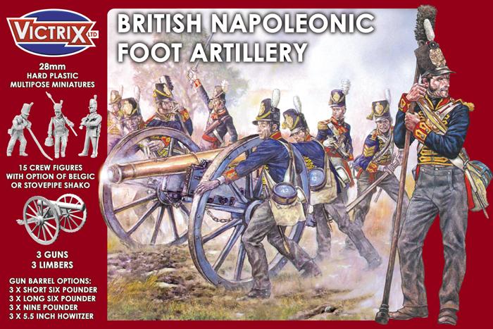 Victrix British Napoleonic Foot Artillery Cover