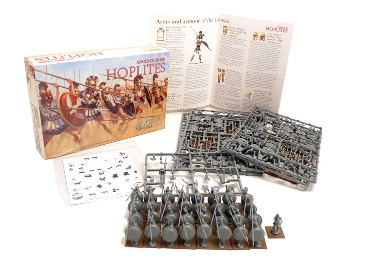Immortal Miniatures Greek Hoplites boxed set contents