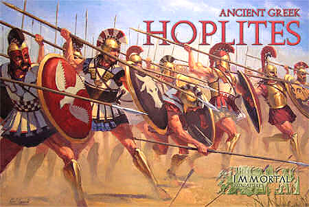 Immortal Miniatures Ancient Greek Hoplites boxed set artwork