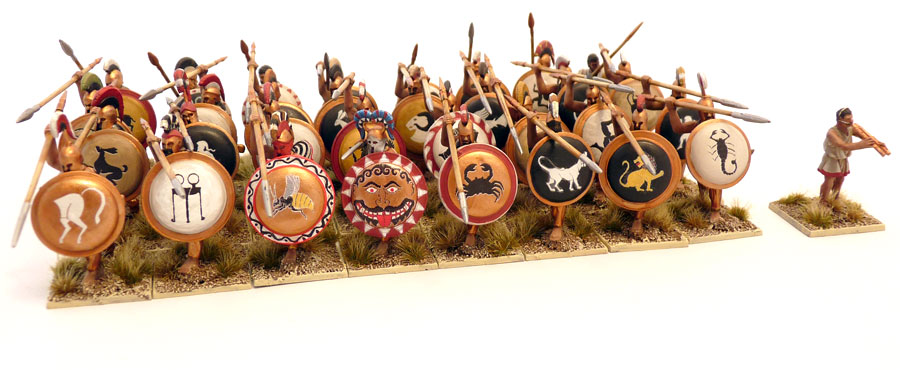 Painted Immortal Miniatures Ancient Greek Hoplites