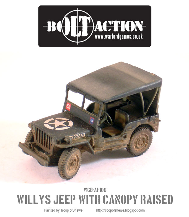 Willys Jeep with canopy left