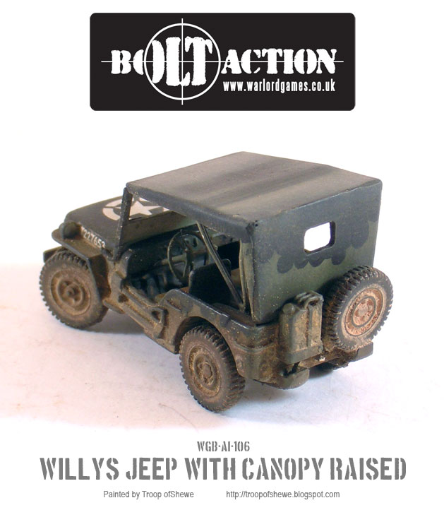 Willys Jeep with canopy rear