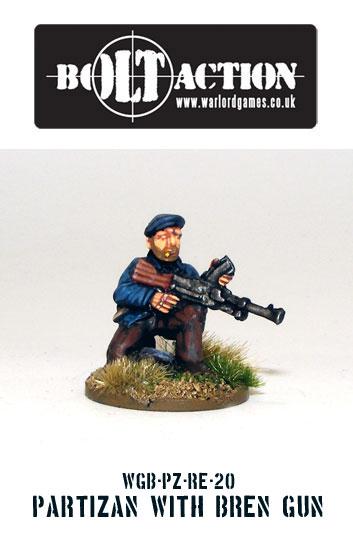 Partisan with Bren Gun