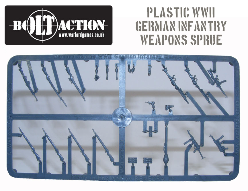 Plastic Bolt Action German Infantry Weapons Sprue