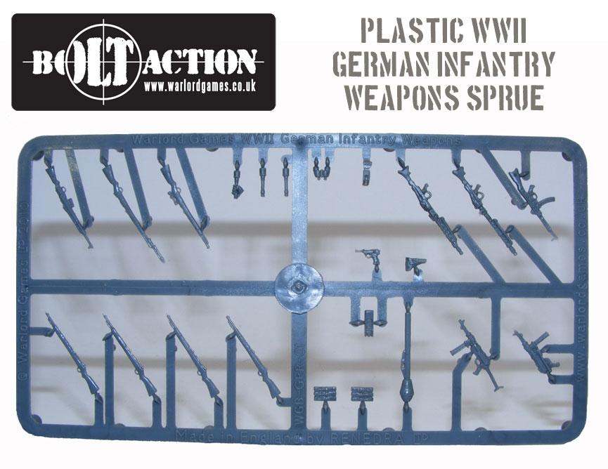 Plastic Bolt Action German Infantry Weapons Sprue