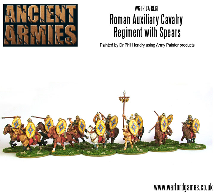 Imperial Roman Auxiliary Cavalry with Spears and Shields