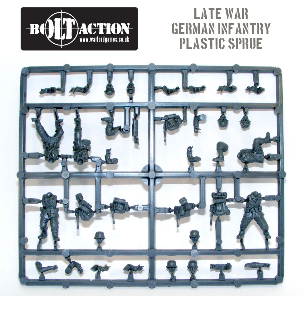 Plastic Bolt Action German Infantry Body Sprue
