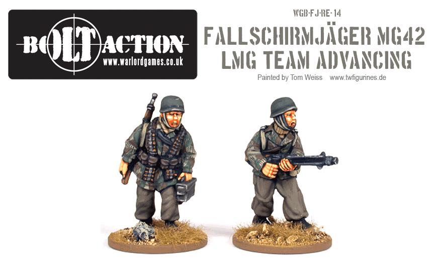 Fallschirmjäger MG42 LMG Team Advancing