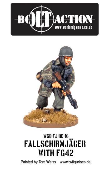 Fallschirmjäger with FG42