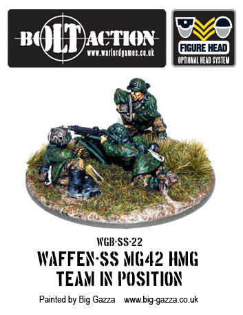 Waffen-SS MG42 Team HMG in Position 2