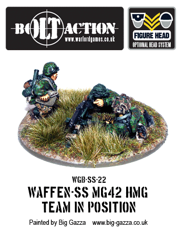 Waffen-SS MG42 Team HMG in Position 1