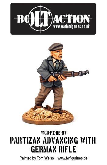 Partizan Advancing with German Rifle