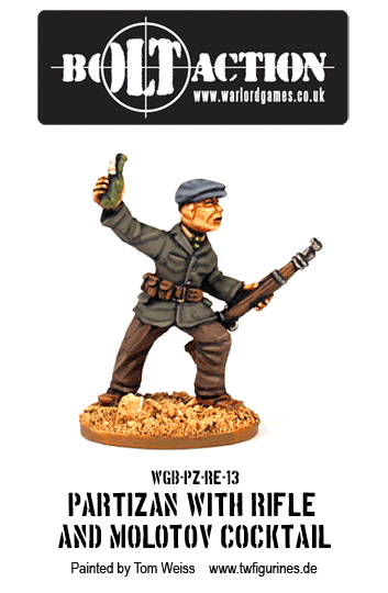 Partizan with Rifle and Molotov Cocktail