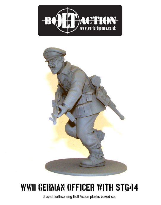 Plastic Bolt Action WW2 German Officer with STG 44 2