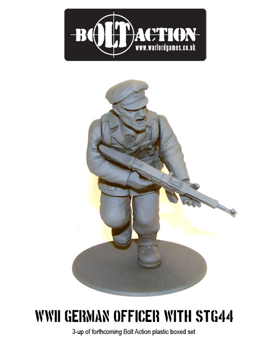 Plastic Bolt Action WW2 German Officer with STG 44 3