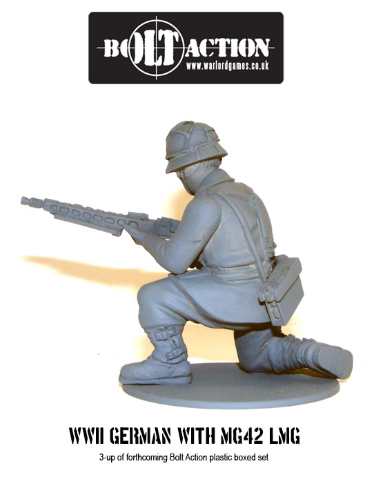 Plastic Bolt Action WW2 German with MG42 LMG 1