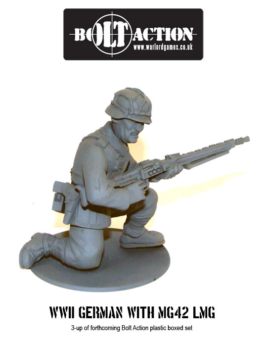 Plastic Bolt Action WW2 German with MG42 LMG 2