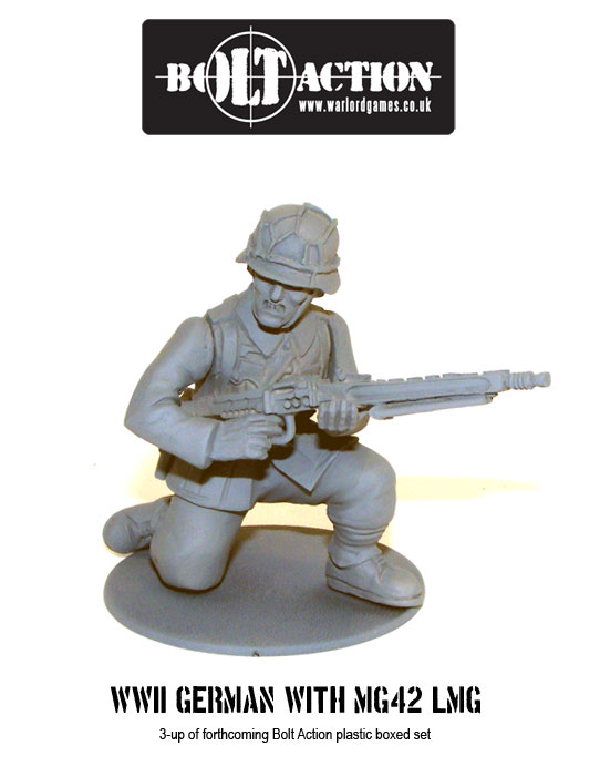 Plastic Bolt Action WW2 German with MG42 LMG 3