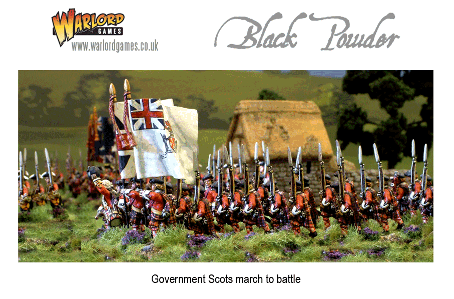 Government Scots march to battle.
