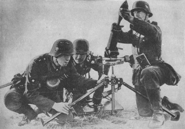German 81mm Mortar photo