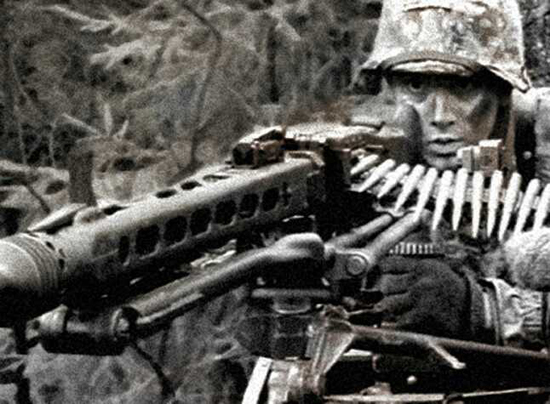 German HMG Machine Gun photo