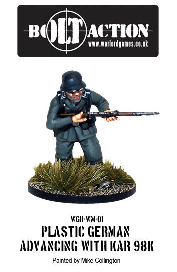 Plastic Bolt Action German Infantry with KAR98K Advancing