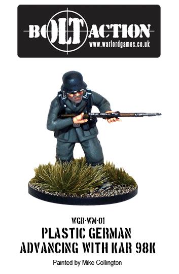 Plastic Bolt Action German Infantry with KAR98K Advancing