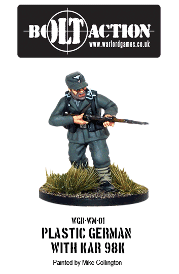 Painted Plastic Bolt Action German Infantry with KAR98K