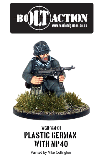 Painted Bolt Action Plastic German with MP40