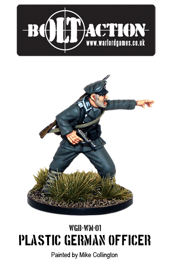 Painted Plastic Bolt Action German Officer