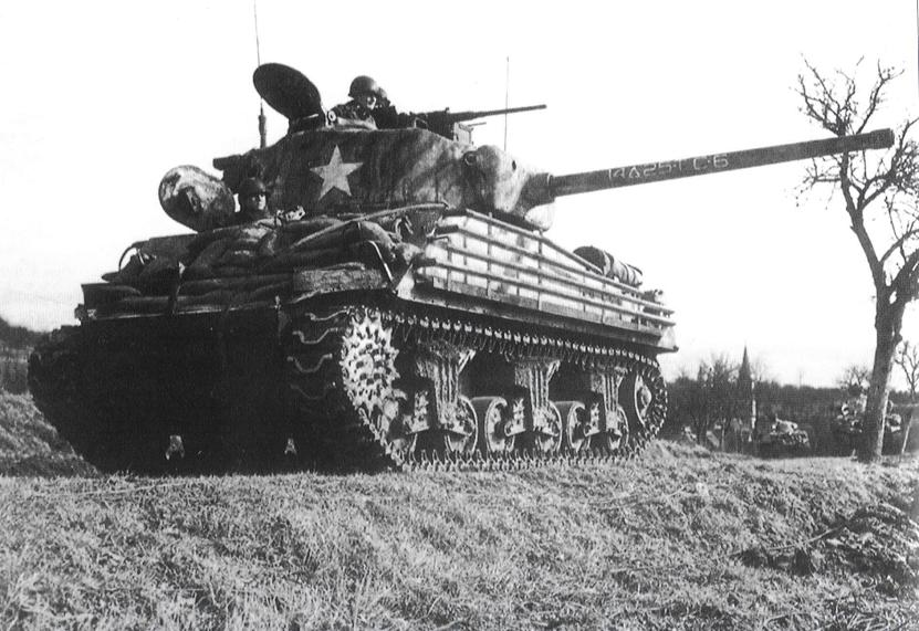 Sherman with sandbagged hull