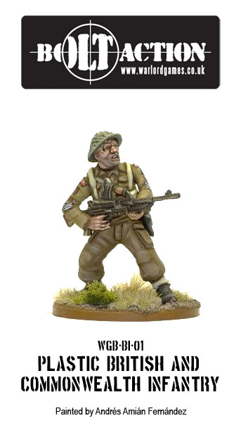 Painted Plastic British Infantry